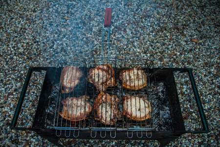 Steaks on the grill