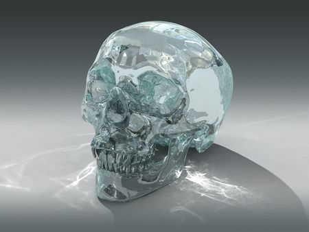 3D model of a human Crystal Skull, claimed to be of pre-Colombian Mesoamerican origin