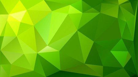 Ilustración de Abstract low poly background of triangles in green colors - Imagen libre de derechos