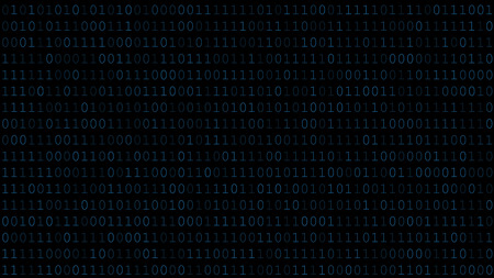 Background of zeros and ones in dark blue colors