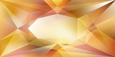 Illustration pour Abstract crystal background with refracting light and highlights in yellow colors - image libre de droit