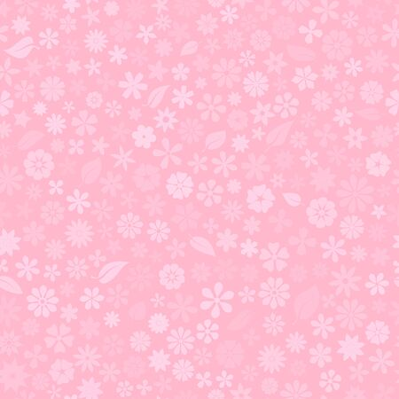 Illustration pour Seamless pattern with floral texture of small flowers in pink colors - image libre de droit