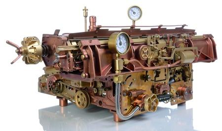 Steampunk style mechanism. Hand/home made model Typewriter.