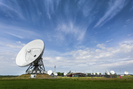 Photo pour Parabolic satellite station that intercepts phonecalls for intelligence agency's - image libre de droit