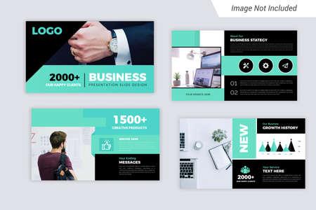 Illustration pour Green Color Corporate Business  presentation Slides Design - image libre de droit