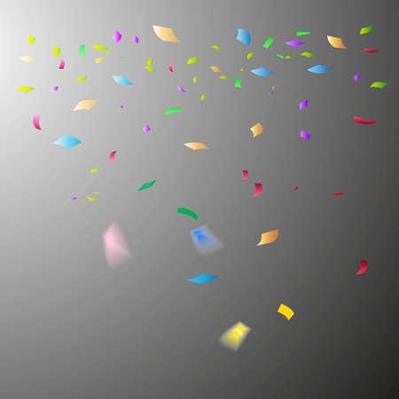 Illustration pour Colorful confetti. Festive of falling shiny confetti isolated on transparent background. Holidays design. Colorful bright confetti background. - image libre de droit