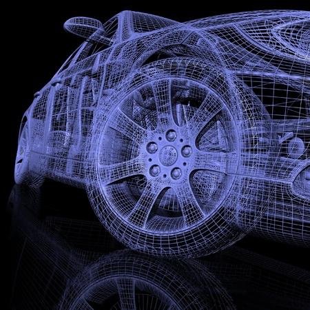 Photo pour 3d model cars - image libre de droit