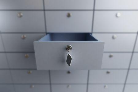Photo pour opened empty bank deposit cell  - image libre de droit
