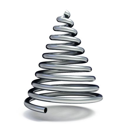 fir-tree from a metallic pipe