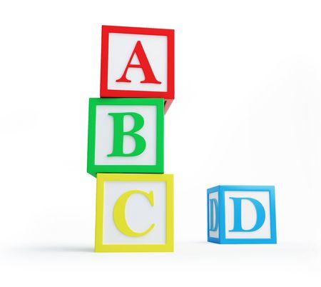 Photo pour alphabet blocks solated on a white background  - image libre de droit