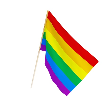 gay and lesbian flag on a white background