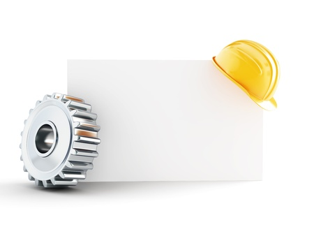 construction helmet blank form 3d Illustrations on a white background