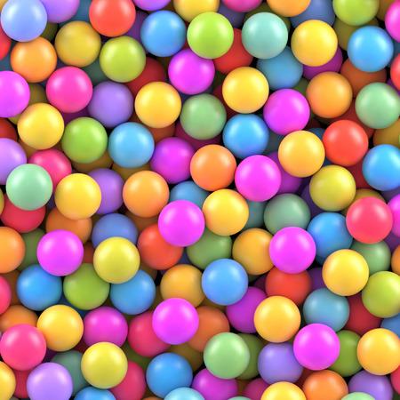 Ilustración de Colorful balls background - Imagen libre de derechos