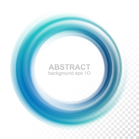 Abstract Transparent Blue Swirl Circle Vector Illustration