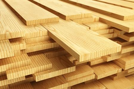 Photo pour Large stack of wood planks.  - image libre de droit