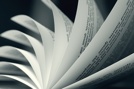 Image of a book with turning pages  Might be useful for education, litarature, wisdom illustrating purposes