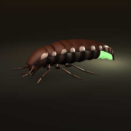 3d render of glow worm
