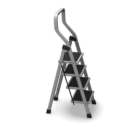 3d render of ladder stairs