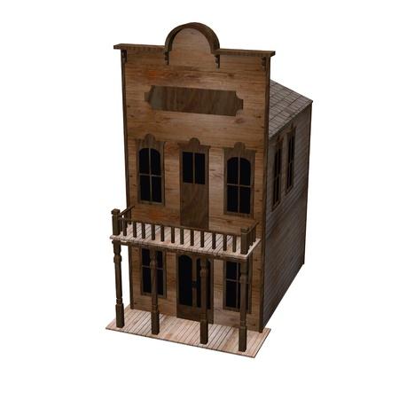3d render of western house