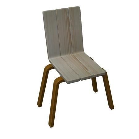 3d render of modern chair