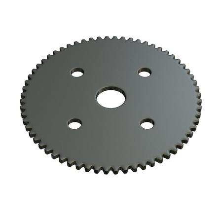 3d render of gear wheel