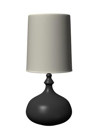 3d render of lamp (light)