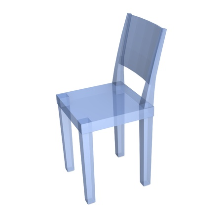3d render of transparent chair