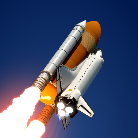 Space Shuttle Launch  3D Scene の写真素材