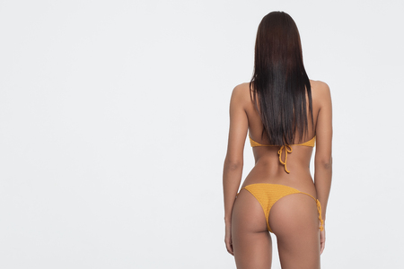 Brunette with a beautiful booty