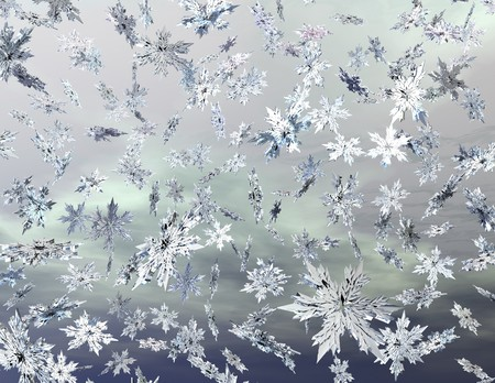 digital visualization of falling snowflakes
