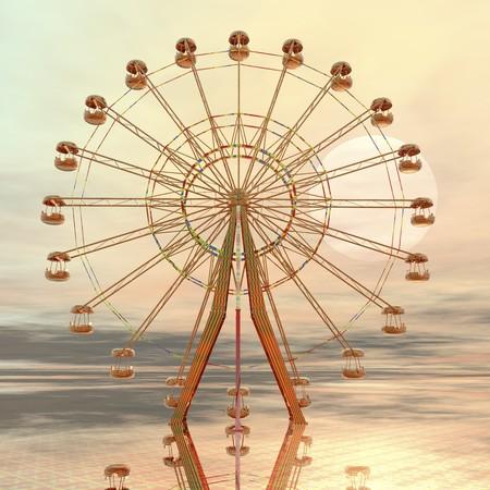 digital visualization of a giant wheel
