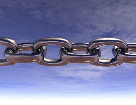digital visualization of a chain
