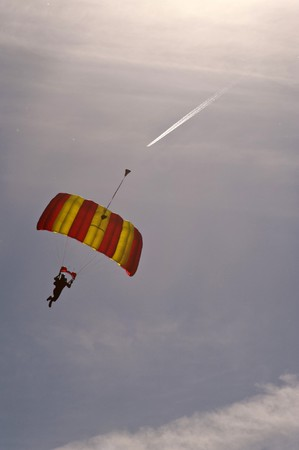 Sky diver at Balloon-Sail 2010, Kiel, Germany
