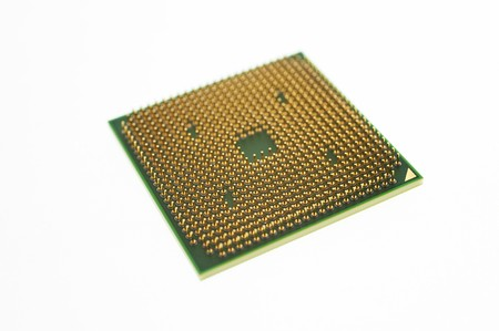 close up of a chip