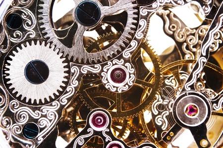 Close up of a clockwork
