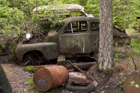 Car Dump in Kirkoe Mosse, Sweden