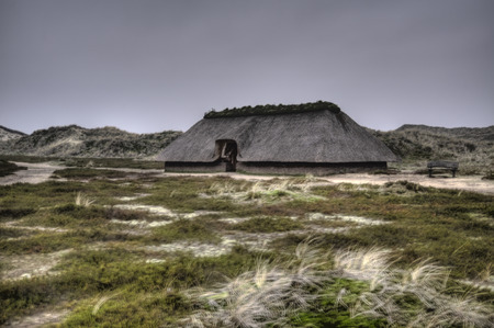 Prehistoric Reconstruction of a Stone Age House on Amrum in Germany