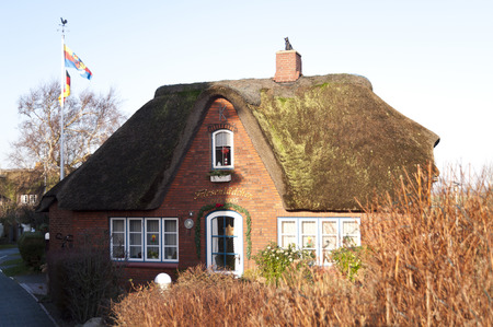 House on the North Frisian Island Amrum in Germany