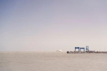 Ferry on the North Frisian Island Amrum in Germany