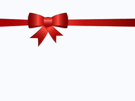 Illustration pour Gift bow ribbon silk. Red bow tie isolated on white background - image libre de droit