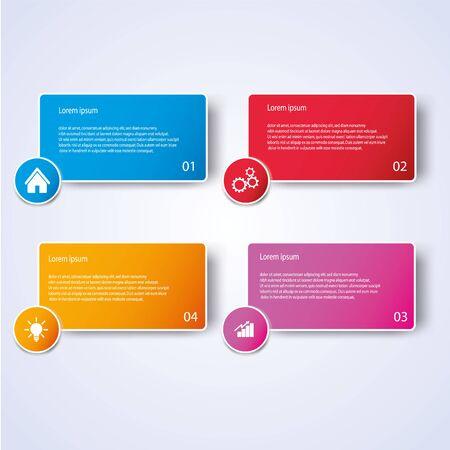 Illustration pour Business Infographic style Vector illustration - image libre de droit