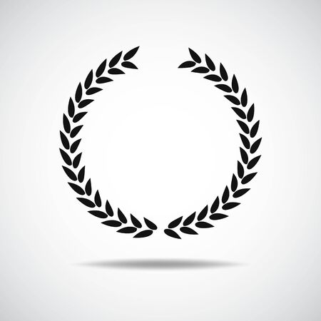 Illustration for Laurel icon isolated on white background - Royalty Free Image