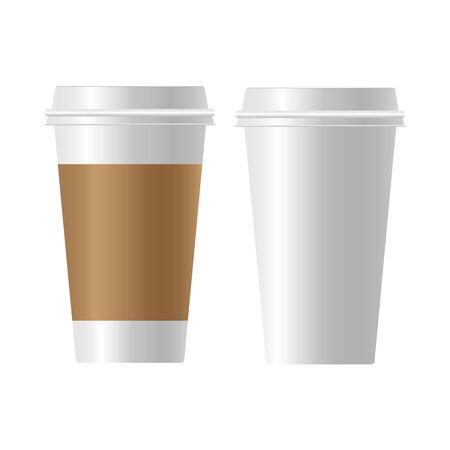Illustration pour coffee cup  paper Realistic - image libre de droit