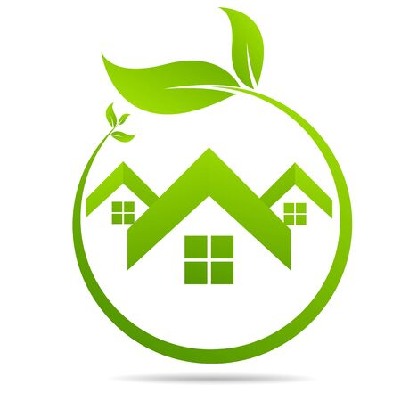 Illustration for Real Estate, Eco House design vector template - Royalty Free Image