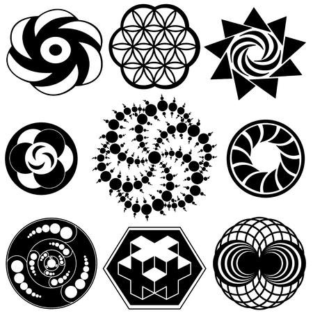 Crop Circle Designs of sacred geometry