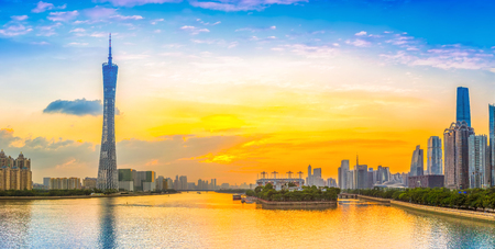 Pearl River CBD and city skyline in Guangzhou