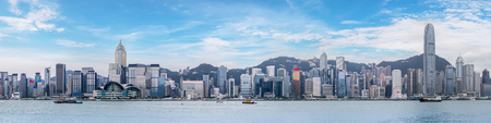 Photo pour Hong Kong city skyline - image libre de droit