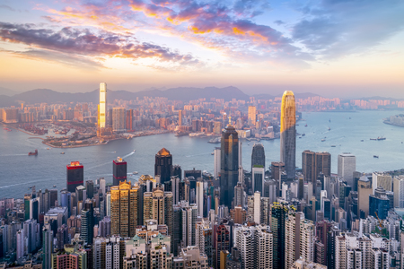 Photo for Hong Kong city skyline - Royalty Free Image