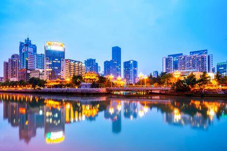 Foto für Chengdu modern architecture night view - Lizenzfreies Bild