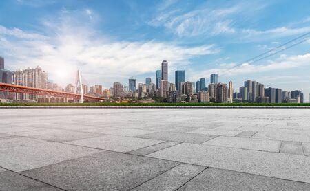 Photo pour Chongqing urban architectural landscape skyline - image libre de droit